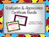 Graduation and Appreciation Certificate Bundle