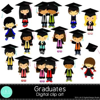 Graduation boys and girls Series 2, graduates, Children Digital Clipart