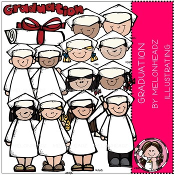 Melonheadz: Graduation clip art - COMBO PACK