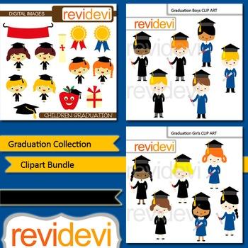 Graduation clip art: Graduation collection clipart bundle (3 packs)
