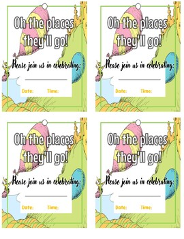 Oh The Places Youll Go Graduation Worksheets Teaching Resources