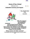 Graduation or Program Invitation