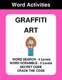 Graffiti Art - Word Search, Word Scramble,  Secret Code,  Crack the Code