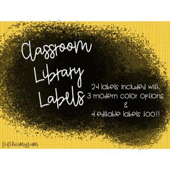 Graffiti Classroom Library Labels
