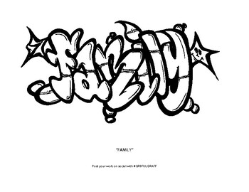 Graffiti Coloring Pages Worksheets Teaching Resources Tpt