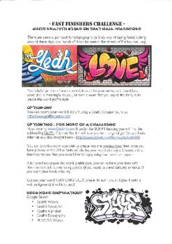 Fun Art Lesson: Graffiti / Street Art Activities