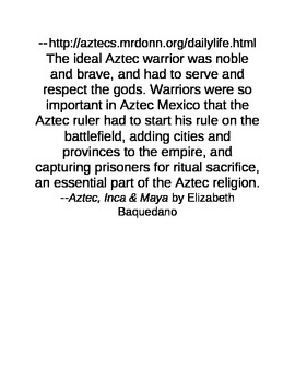 Graffiti Wall Activity about the Aztec Empire