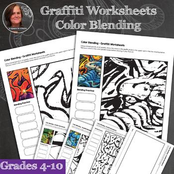 Graffiti Worksheets - Color Blending - Graffiti Art Lesson