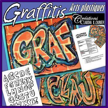 Arts plastiques: Graffitis - plan de cours en français, pour la rentrée
