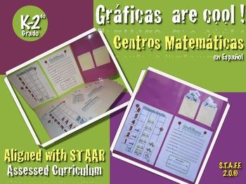 Graficas are cool!!! Centros Matematicas K-2 Spanish Español