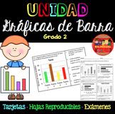 Unidad Gráficas de Barra Tarjetas Grado 2/Bar Graph Unit i