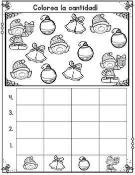 Graficas para Diciembre:  December Count and Graph It Spanish