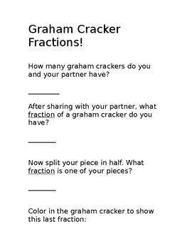 Graham Cracker Fractions Worksheet