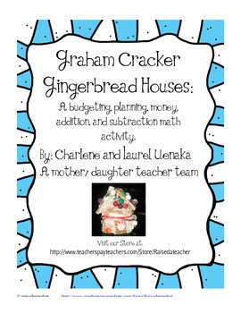 Graham Cracker House Math Activity- plans, templates, and worksheets