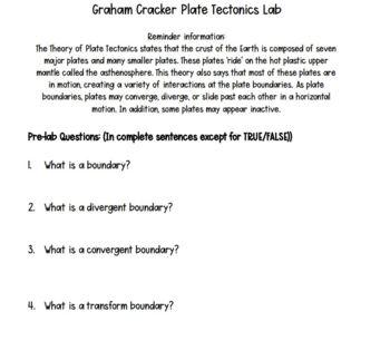 Graham Cracker Plate Tectonics Lab