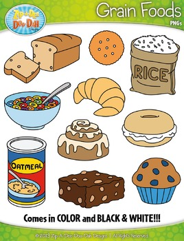 Grain Foods Clipart {Zip-A-Dee-Doo-Dah Designs}