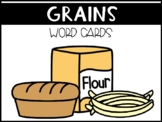 Grains Food Group Vocabulary Word Wall Picture Cards (ESL & SPED)