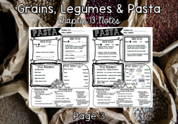 Grains, Legumes and Pasta (Chapter 13)  Notes & Answers for Intro to Culinary