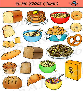 Grains and Breads Clipart Food Groups by I 365 Art ...