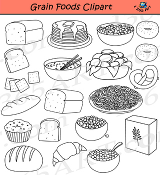Grains and Breads Clipart Food Groups