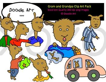 Gram and Grandpa Clipart Pack