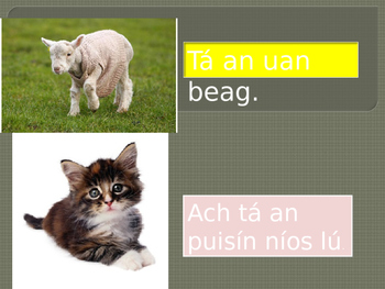 Gramadach, Irish Grammar