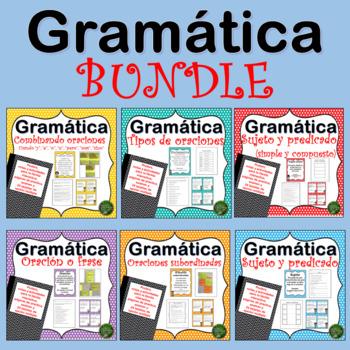 Gramatica: Sujeto y Predicado - Tipos de Oraciones - Oracion o Frase - BUNDLE