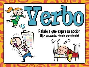 PARTS OF SPEECH Workstation - ENGLISH & SPANISH