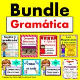 Gramatica: Sujeto y predicado, combinado oraciones, comas, mayusculas...BUNDLE