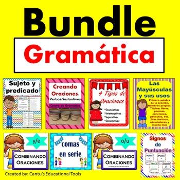 Gramatica: Sujeto y predicado, combinado oraciones, comas,