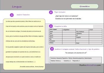 Gramática y comprensión lectora El vestido verde aceituna Silvina Ocampo