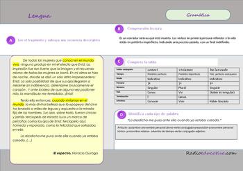 Gramática y comprensión lectora en El espectro Horacio Quiroga