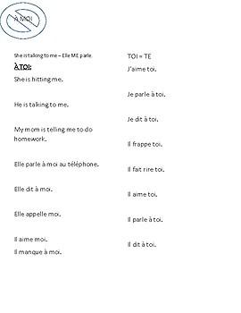 Grammaire en Français - Compléments d'objets direct et indirect - COD et COI