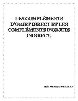 Grammaire en Français - Compléments d'objets direct et ind