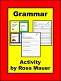 Grammar Sentences Task Cards & Worksheet Food Theme School