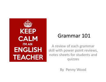 Grammar 101:  A Review of Grammar Skills with Quizzes
