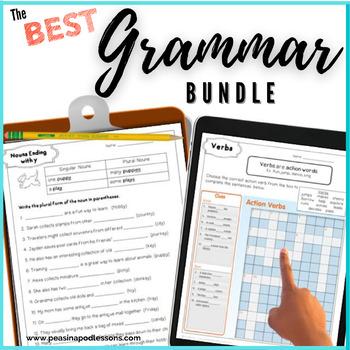 Grammar Workbook Parts of Speech Unit Verbs, Nouns, Adjectives, Pronouns, +