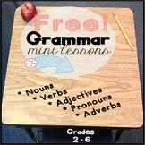 Free Grammar Workbook with Mini Lessons