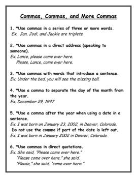 grammar 4 kinds of sentences commas quotation marks for grades 3 8. Black Bedroom Furniture Sets. Home Design Ideas