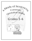 Grammar - 4 Kinds of Sentences Commas Quotation Marks for