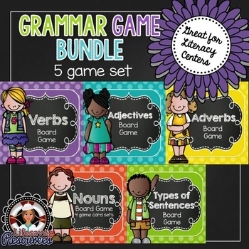 Grammar Games -  Nouns, Verbs, Adjectives, Adverbs