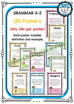 Back To School - Grammar A-Z Posters MEGA GIANT PACK - Only .08c Per Poster