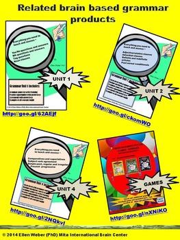 Grammar Action Unit 3 - Cheat Sheets, Games, Answer Keys (6 -12+)