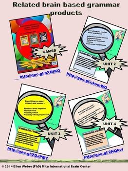 Grammar Action Unit 1 - Cheat Sheets, Games, Answer Keys (6 -12+)