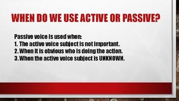 Grammar-  Active Voice vs. Passive Voice