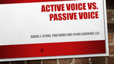 Grammar-  Active Voice vs. Passive Voice