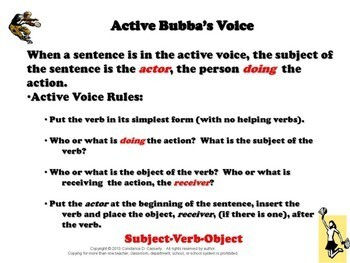 Grammar PowerPoint & Activities: Active/Passive Voice