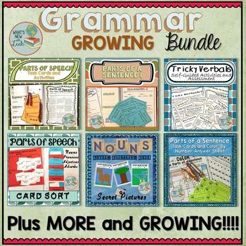 Grammar Activities Growing Bundle
