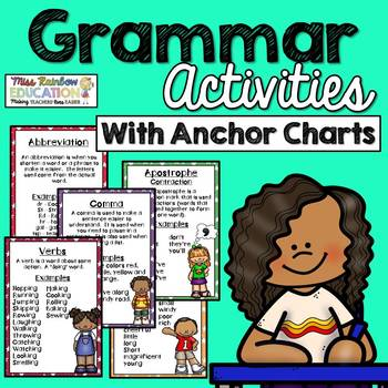 Grammar Posters with 30 Worksheets