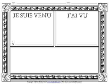 Grammar Activity: Caesar sentences to Introduce Passé Composé (French)